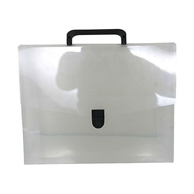 JAM Paper® Briefcase, 12 x 9.5 x 1.5, Clear, Sold Individually (2012CLEAR)