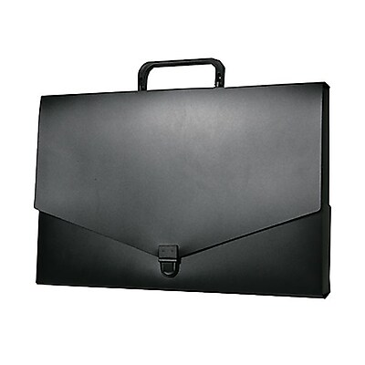 JAM Paper® Briefcase, Small, 10 x 15 x 2, Black, Sold Individually (2015 027)