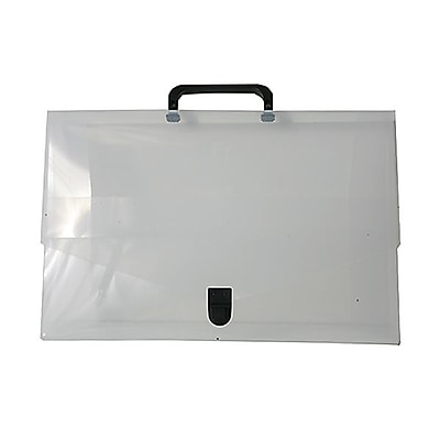 JAM Paper® Briefcase, Small, 10 x 15 x 2, Clear, Sold Individually (2015 001)