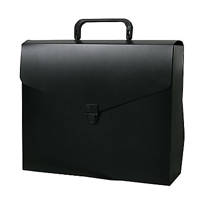 JAM Paper® File Carry Case, 10 x 12 x 4, Black, Sold Individually (7206027)