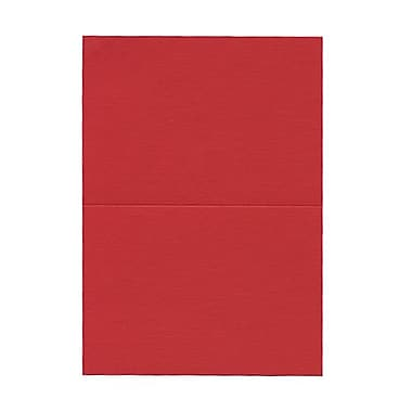 JAM Paper® Blank Foldover Cards, 4bar / A1 size, 3 1/2 x 4 7/8, Red Linen, 100/pack (309888)