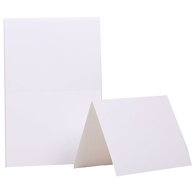 JAM Paper® Blank Foldover Cards, A2 size, 4.38 x 5 7/16, White, 500/Pack (309910B)