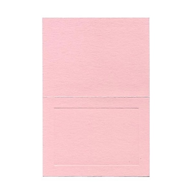 JAM Paper® Blank Foldover Cards, A6 size, 4 5/8 x 6 1/4, Pink Panel, 25/pack (3095546C)