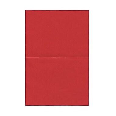 Jam PaperMD – Cartes vierges à plier fini lin, 4 5/8 x 6 1/4 po, rouge, 50/pqt