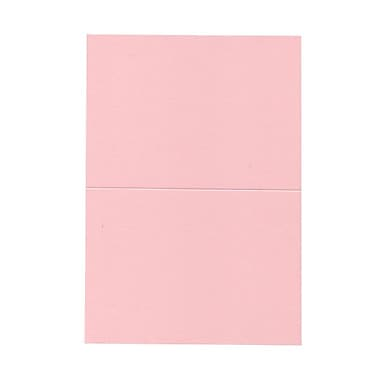 JAM Paper® Blank Foldover Cards, A7 size, 5 x 6.63, Baby Pink, 50/Pack (530913122cg)