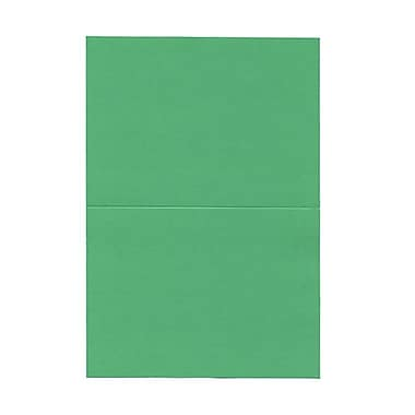 JAM Paper® Blank Foldover Cards, 4 x 5 7/16, Green, 500/Pack (0309934B)