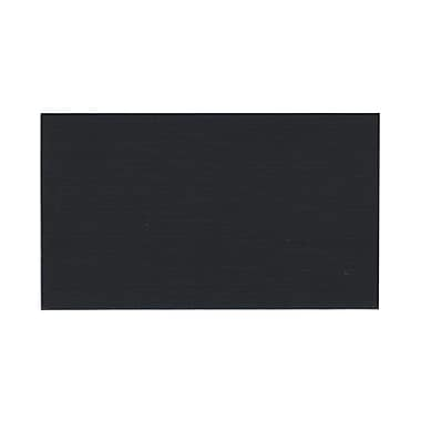 JAM Paper® Blank Note Cards, 3drug size, 2 x 3.5, Black, 200/Pack (217512681g)