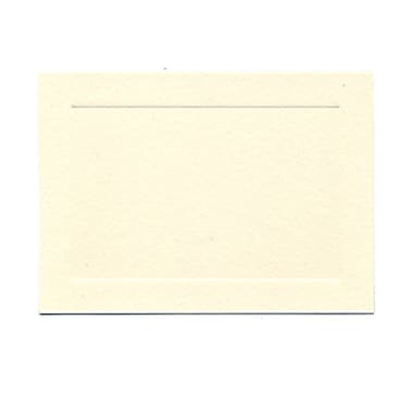 JAM Paper® Blank Note Cards, 4bar size, 3 1/2 x 4 7/8, Ivory with Panel Border, 500/box (0175964B)