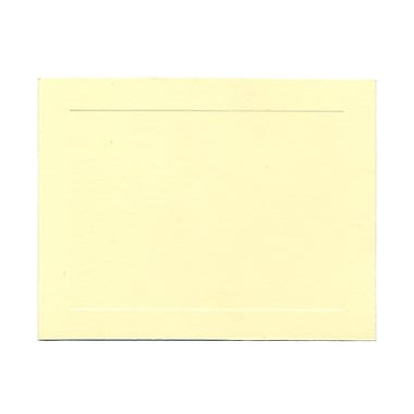 JAM Paper® Blank Note Cards, A2 size, 4.25 x 5.5, Ivory with Panel Border, 100/pack (175981)