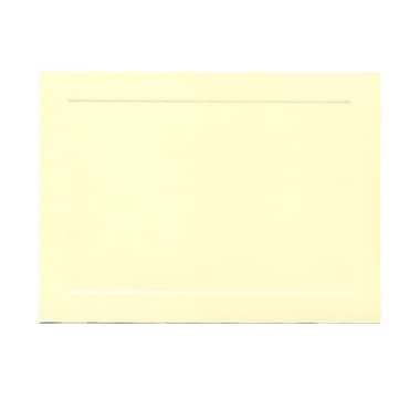 JAM Paper® Blank Note Cards with Panel Border, A7 size, 5 1/8 x 7, Ivory, 500/box (98040B)