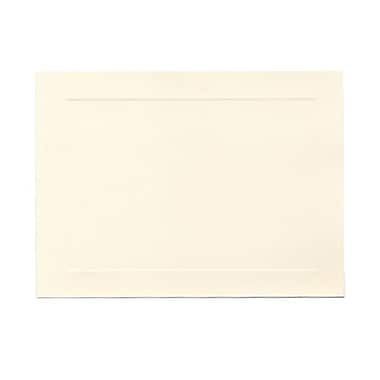 JAM Paper® Blank Note Cards with Panel Border, A7 size, 5 1/8 x 7, Cougar Opaque Natural White, 100/Pack (97175)