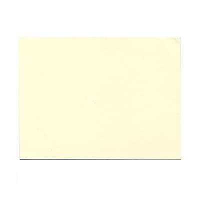 JAM Paper® Blank Note Cards, A6 size, 4 5/8 x 6 1/4, Ecru Ivory, 500/box (0175989B)
