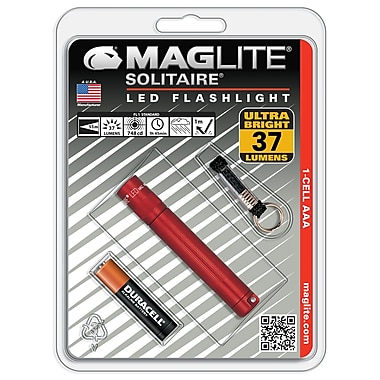 Maglite® LED 1-Cell AAA Solitaire Flashlight, Red (SJ3A036)