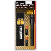 Maglite® LED 2-Cell AA Flashlight with Belt Holster, Black (SP2201H)