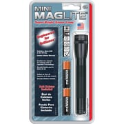 Mini Maglite® 2-Cell AA Flashlight with Belt Holster, Black (M2A01H)