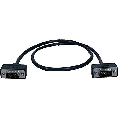 QVS CC388M1-15 15' VGA Cable, Black