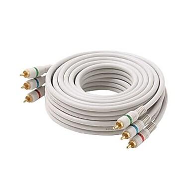 STEREN® 3' Python HDTV SVGA Component Cable, Ivory