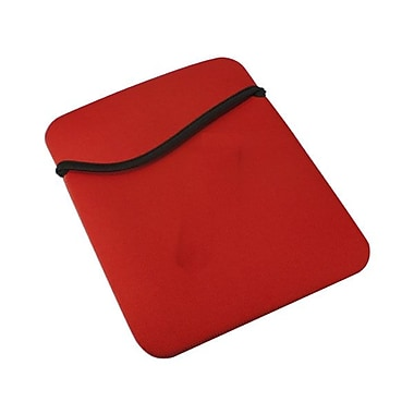 QVS IC-RB Padded Nylon Reversible Sleeve for iPad 2/3, Kindle Fire, Samsung Galaxy Tab, Black/Red