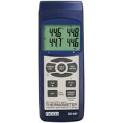 Reed - Thermomètre à thermocouple de 4 canaux/enregistreur de données SD-947