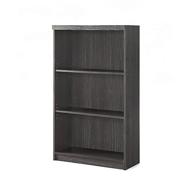 Whalen Trinity Bookcase, 3-Shelf, Espresso