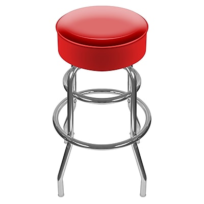 Trademark Global® High Grade Vinyl Padded Swivel Bar Stool, Red