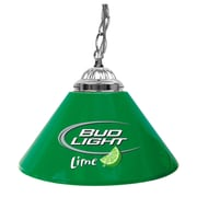 "Trademark Global® 14"" Single Shade Bar Lamp, Green, Bud Light Lime"
