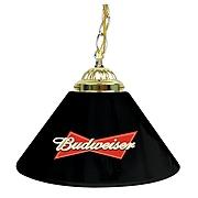 "Trademark Global® 14"" Single Shade Bar Lamp, Black, Budweiser®"