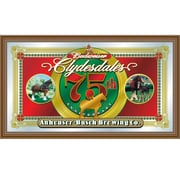 "Trademark Global® 15"" x 26"" Black Wood Framed Mirror, Budweiser® Clydesdales 75th Anniversary"