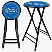 "Trademark Global 24"" Cushioned Folding Bar Stool, Black (AB2400-BL)"
