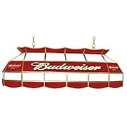 """Trademark Global® 40"""" Stained Glass Pool Table Light, Budweiser®"""