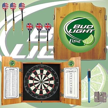 Trademark Global® Solid Pine Dart Cabinet Set, Bud Light Lime