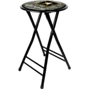 "Trademark Global® 24"" Cushioned Folding Stool, Black, U.S. Army Digital Camo"