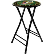 "Trademark Global® 24"" Cushioned Folding Stool, Green/Black, U.S. Army Symbol"