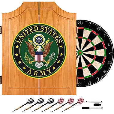 Trademark Global® Solid Pine Dart Cabinet Set, U.S. Army Symbol