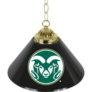 "Trademark Global® 14"" Single Shade Bar Lamp, Black, Colorado State University™ NCAA"