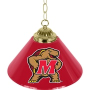 "Trademark Global® 14"" Single Shade Bar Lamp, Red, Maryland University™ NCAA"