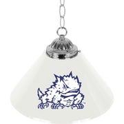"Trademark Global® 14"" Single Shade Bar Lamp, White, Texas Christian University™ NCAA"