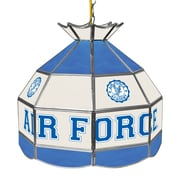 """Trademark Global® 16"""" Stained Glass Tiffany Lamp, Air Force Falcons NCAA"""