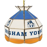 "Trademark Global® 16"" Stained Glass Tiffany Lamp, Brigham Young™ NCAA"