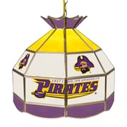 "Trademark Global® 16"" Tiffany Lamp, East Carolina U Glass NCAA"