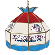 "Trademark Global® 16"" Stained Glass Tiffany Lamp, Gonzaga University NCAA"