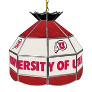 "Trademark Global® 16"" Stained Glass Tiffany Lamp, University of Utah NCAA"