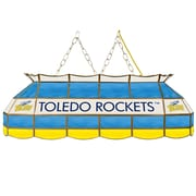"Trademark Global® 40"" Stained Glass Tiffany Lamp, University of Toledo™ NCAA"