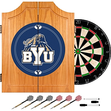 Trademark Global® Solid Pine Dart Cabinet Set, NCAA BYU