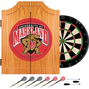Trademark Global® Solid Pine Dart Cabinet Set, NCAA Maryland University