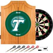 Trademark Global® Solid Pine Dart Cabinet Set, NCAA Tulane University