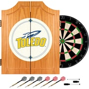 Trademark Global® Solid Pine Dart Cabinet Set, NCAA University of Toledo