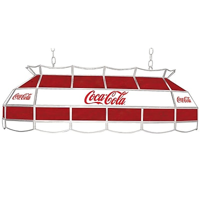 "Trademark Global® 40"" Stained Glass Vintage Tiffany Lamp, Coca Cola® Red/White Vintage"