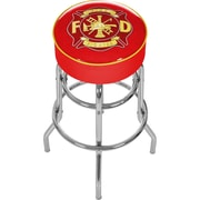 Trademark Global® Vinyl Padded Bar Stool, Red, Fire Fighter