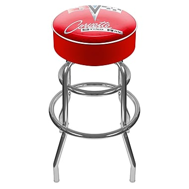 Trademark Global® Vinyl Padded Swivel Bar Stool, Red, Corvette C2